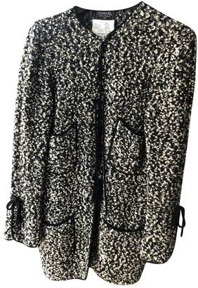 Chanel Black Wool Coat for Women Vintage