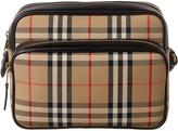 Burberry Medium Vintage Check & Leather Camera Bag