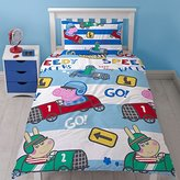 Peppa Pig Peppa George 'SPEED' Single Duvet Set - Repetitive Print Design