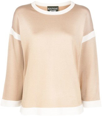 Boutique Moschino Contrast Details Jumper