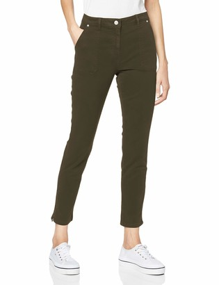 Tommy Hilfiger Women's Cotton Stretch Cargo Skinny Pant Straight Jeans