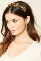 Forever 21 FOREVER 21+ Embellished Floral Headband