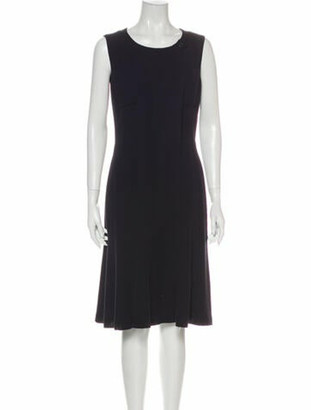 Chanel Vintage Knee-Length Dress Blue
