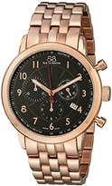 88 Rue du Rhone Men's 87WA120049 Analog Display Swiss Quartz Rose Gold Watch