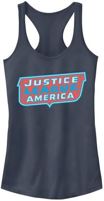 Licensed Character Juniors' DC Comics Justice League of America Logo Graphic Tank