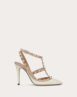 Valentino Garavani Rockstud Ankle Strap Pump Women Poudre Calfskin 100% 42