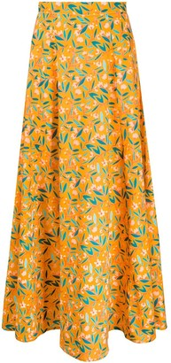C'Est La V.It Floral-Print Maxi Skirt