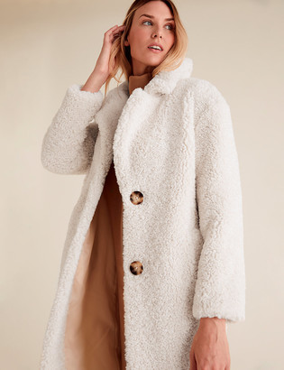 Marks and Spencer Teddy Longline Coat