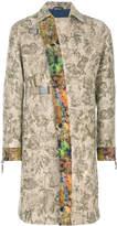 Etro mohair jacquard coat