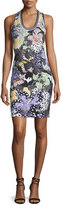 Just Cavalli Orchid Sleeveless Fish-Print Dress, Multi