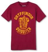 Bioworld Men's Gryffindor Quidditch Team Harry Potter T-Shirt Burgundy