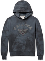 Remi Relief Flocked Loopback Cotton-Jersey Hoodie