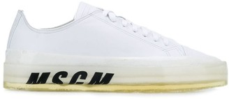 MSGM Low Top Logo Sneakers