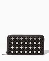 Charming charlie Lattice Stud Zip Around Wallet