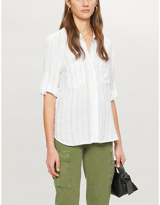 Bella Dahl Split-back striped woven shirt