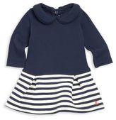 Petit Bateau Baby's Long Sleeve Striped Dress