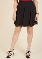 ModCloth Godet to You, Miss Mini Skirt in L