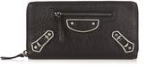 Balenciaga Metallic Edge zip-around leather wallet