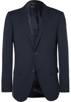 Calvin Klein Collection Blue Hudson Slim-Fit Silk-Seersucker Blazer