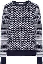 Equipment Shane houndstooth cotton and cashmere-blend sweater