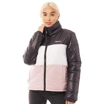Bench Womens Dimension Jacket Black/White/Pink