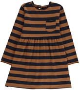Babe & Tess Striped Dress with Pocket Detail