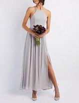 Charlotte Russe Bib Neck Maxi Dress