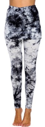 White Mark Women's Tie Dye Skirted Leggings