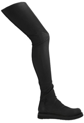 Rick Owens Creeper Stocking Over The Knee Boots