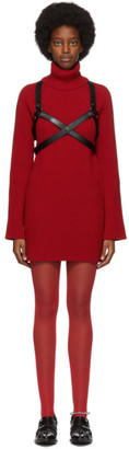 Junya Watanabe Red Harness Turtleneck Dress