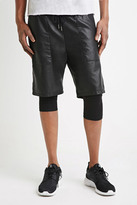 Forever 21 Faux Leather Drawstring Shorts