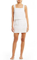 Gianni Bini Solid Eyelet Overlay Dress Cover-Up