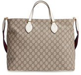 Gucci Infant Logo Print Diaper Bag - White