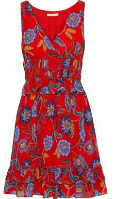 Rebecca Minkoff Lucille Ruffle-trimmed Floral-print Chiffon Mini Dress