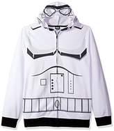 Star Wars Men's Storm Trooper Character Zip Front Hoodie