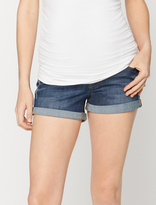 A Pea in the Pod Luxe Essentials Denim Dark Wash Maternity Shorts