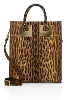 Sophie Hulme Albion Leopard-Printed Leather Mini Tote