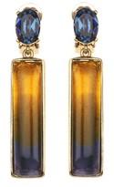 Oscar de la Renta Two Tone Resin Earrings