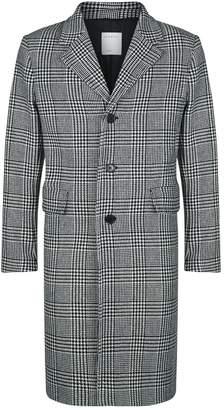 Sandro Check Overcoat