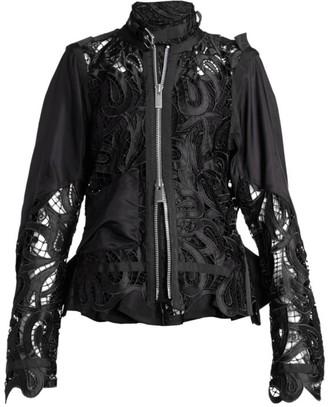 Sacai Paisley Lace Blouson Jacket