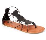 Black & Silver Cutout Sandal