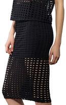 KENDALL + KYLIE Laser Cutout Bodycon Skirt