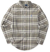 Ralph Lauren Childrenswear Cotton-Flax Madras Plaid Sports Shirt