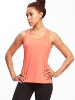 Old Navy Go-Dry Cool Semi-Fitted Mesh Racerback Tank for Women