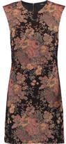 Maje Metallic Jacquard Mini Dress