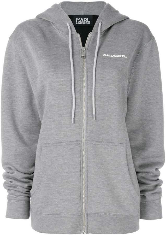 Karl Lagerfeld Karl's Essential zip hoodie