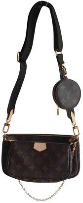 Louis Vuitton Multi Pochette Accessoires Khaki Cloth Clutch bags