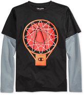 Champion Little Boys' Long-Sleeve Graphic-Print T-Shirt