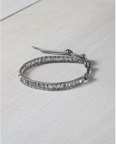 Express chan luu beaded gray single wrap bracelet