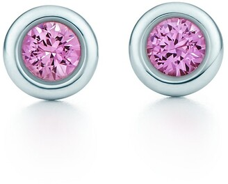 Tiffany & Co. Elsa Peretti Color by the Yard earrings in silver with pink sapphires